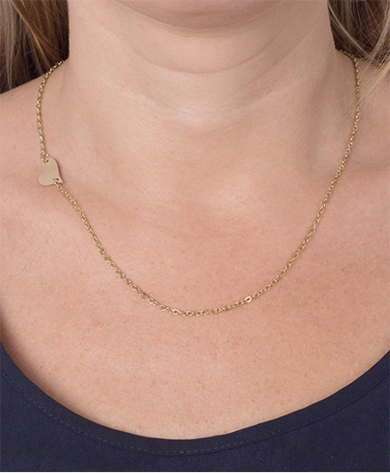 Funkrafts Heart Neck Chain - Golden