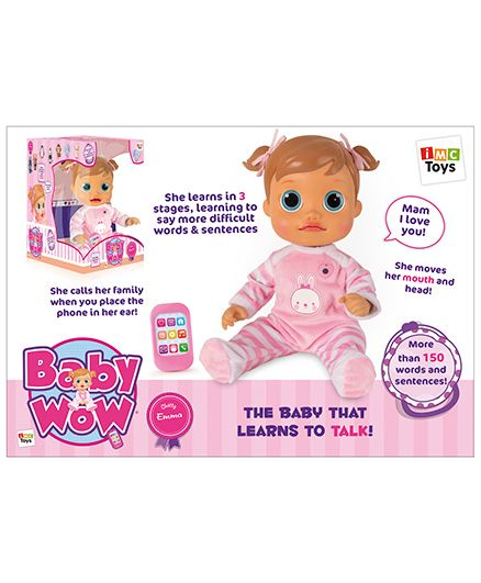 IMC Baby Wow Emma Doll - Pink