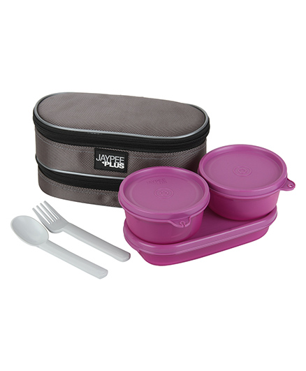 Jaypee Lunch Box Set With Carry Case - Purple