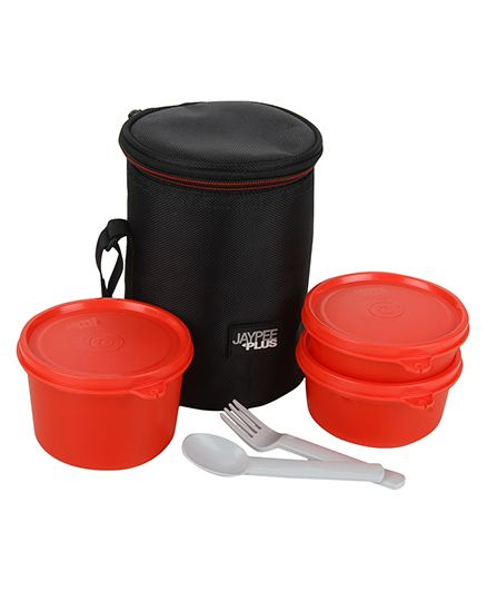 Jaypee Multi Decker 3 Lunch Box Set - Red