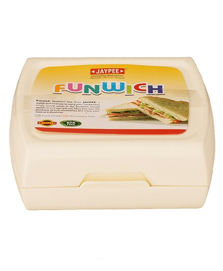 Jaypee Sandwich Lunch Box With Spoon - Off White