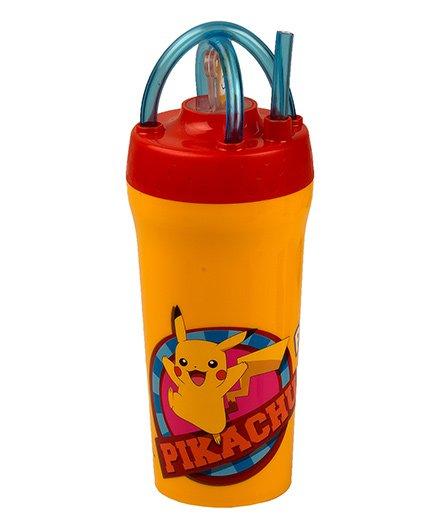 Jaypee Tumbler With Straw Pokemon Print Yellow - 300 ml