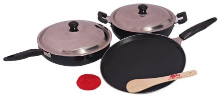 Anjali Diamond 3 Piece Non-Stick Gift Set - Splendora D