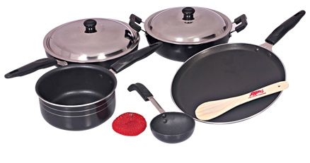 Anjali Diamond 5 Piece Non-Stick Gift Set - Splendora D