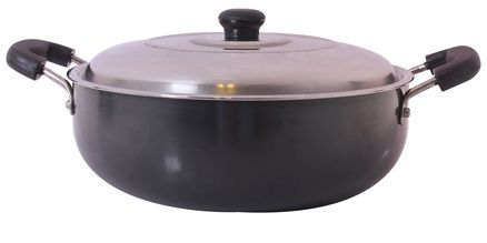 Anjali Opal Hard Anodised Deep Kadai With Lid - OKL 13