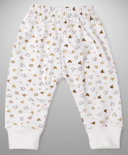 Bodycare Thermal Pajamas Mickey Mouse Print - White