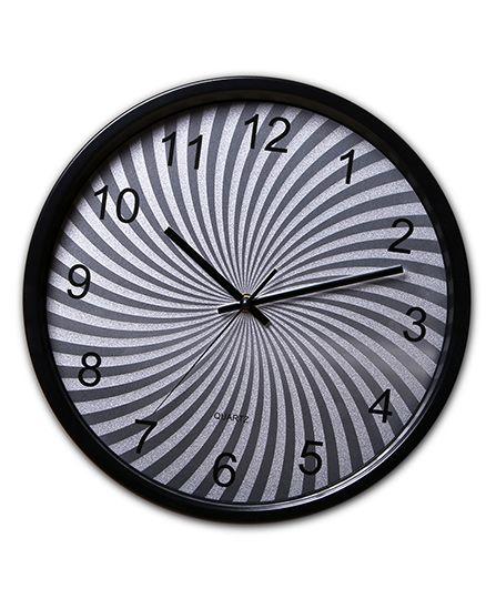 EZ Life Swirled Dial Clock - Black & Silver