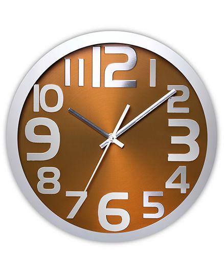 EZ Life Bold Block Digits Wall Clock - Gold