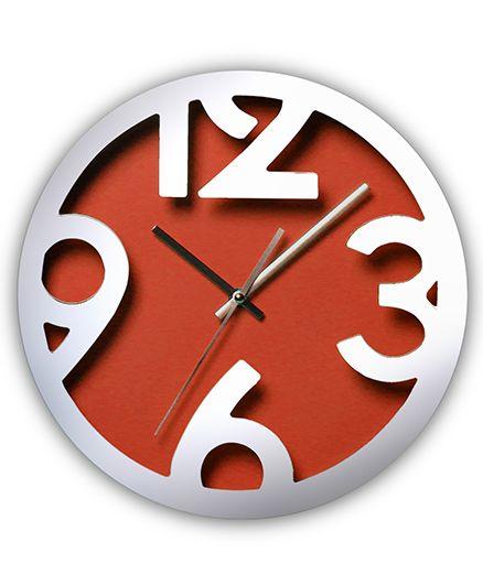 EZ Life Chunky Digits Clock - Orange
