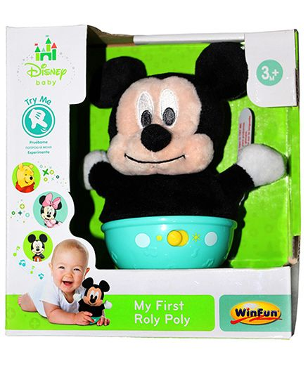 Disney Mickey Mouse Roly-Poly Toy - Black Blue