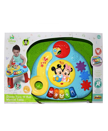 Disney Turn N Roll Musical Table - Multicolor