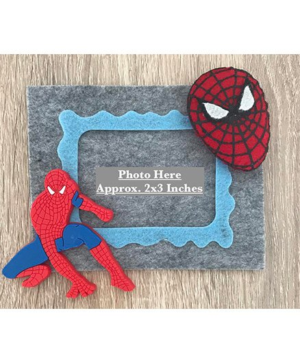 Kalacaree Spider Theme Magnetic Photo Frame - Grey