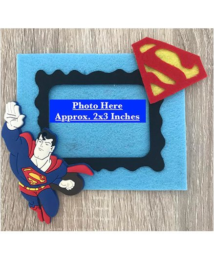 Kalacaree Super Power Theme Magnetic Photo Frame - Light Blue