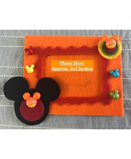 Kalacaree Mouse Theme Magnetic Photo Frame - Orange