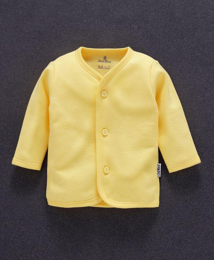 Child World Full Sleeves Fleece Vest - Yellow