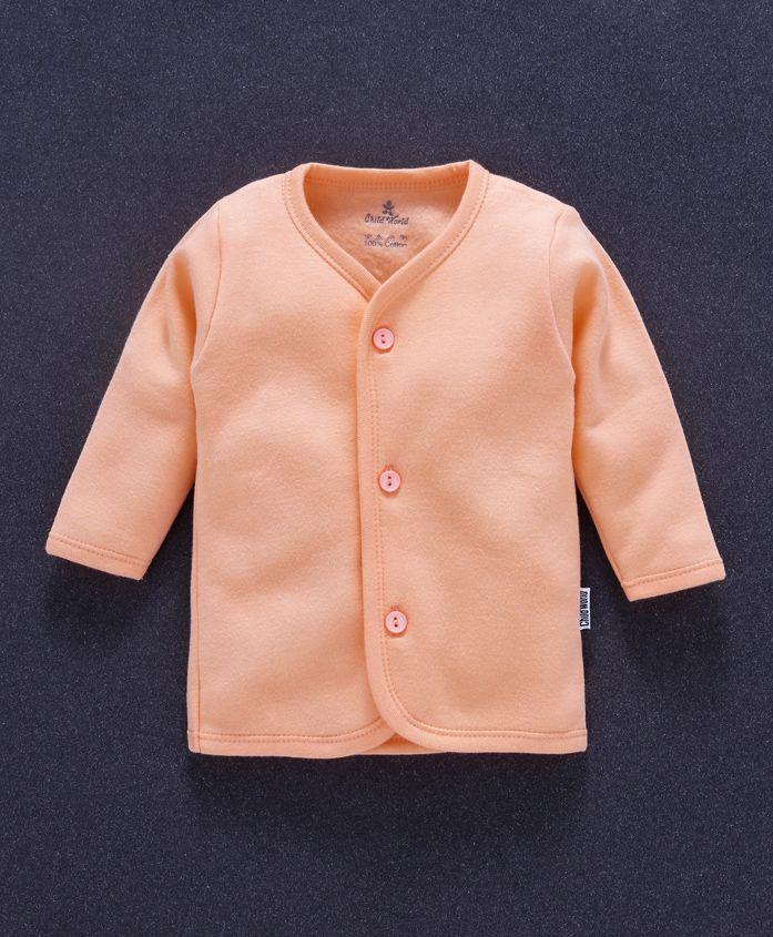 Child World Full Sleeves Fleece Vest - Light Orange