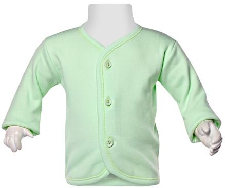 Child World Full Sleeves Fleece Vest - Light Green
