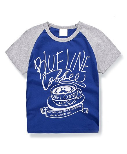 Awabox Coffee Print Tee - Blue
