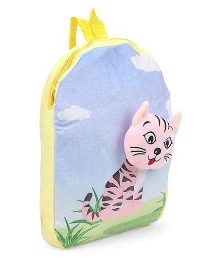Dimpy Stuff Nursery Bag Kitty Motif Blue Yellow - 14 inch