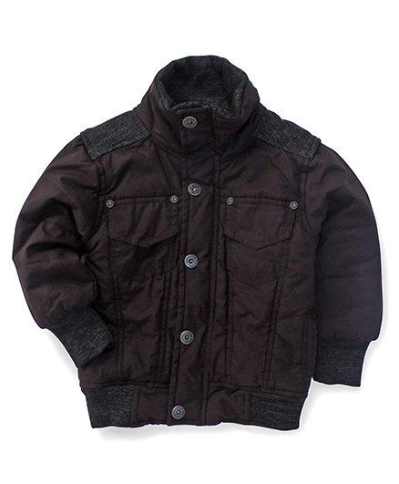 Little Kangaroos Full Sleeves Jacket - Black