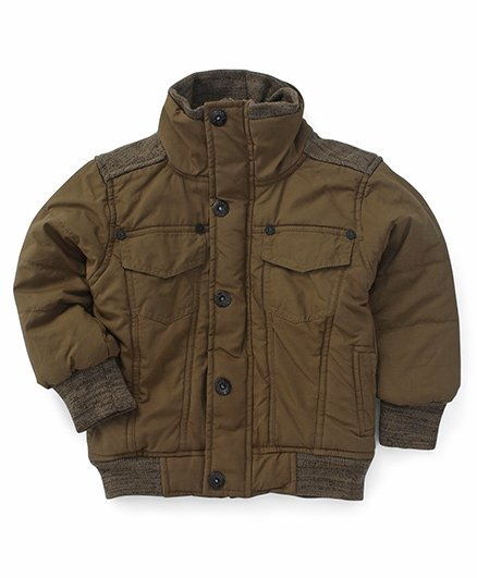 Little Kangaroos Full Sleeves Jacket - Brown