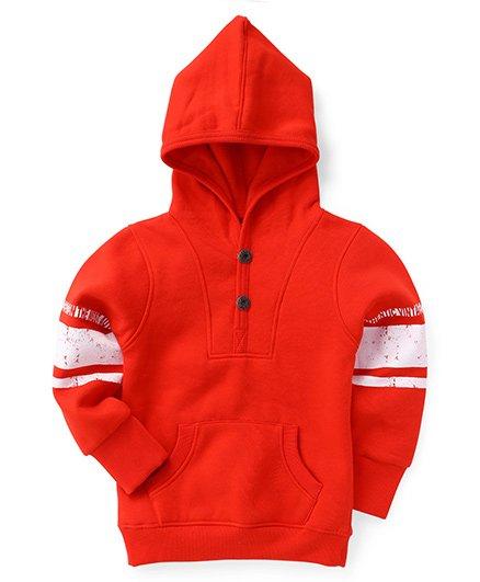 Little Kangaroos Full Sleeves Hooded Sweatshirt - Red