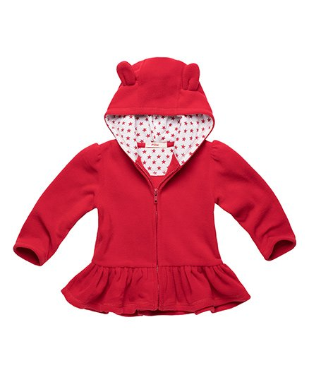 Fox Baby Hooded Jacket - Cherry Red