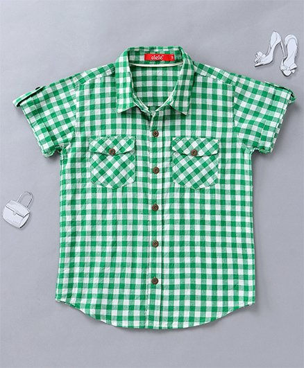 Olele Checked Shirt - Green