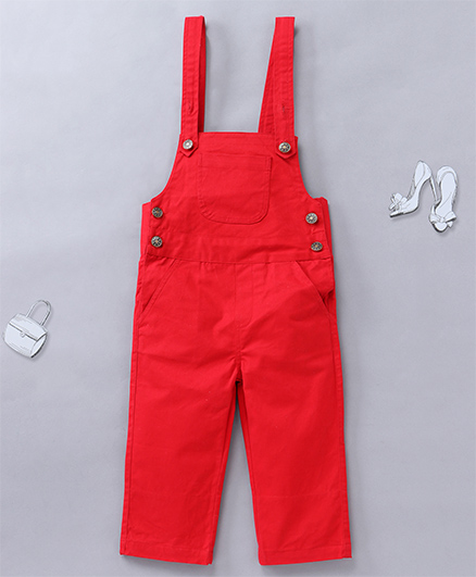Olele Cute Overalls - Red