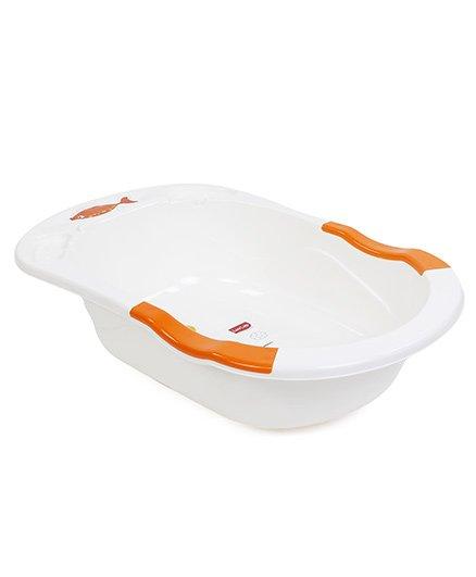 Luv Lap Baby Anti Slip Bathtub Cartoon Print- Orange White