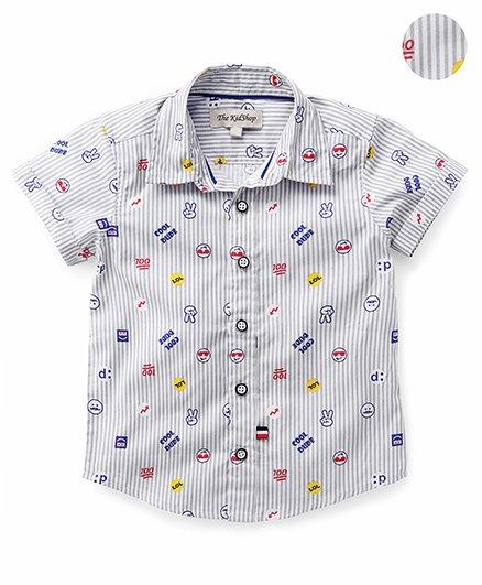 The KidShop Cool Dude Print Shirt - Grey