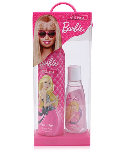 Barbie Gift Pack - Pink N Fun Deodorant And Hand Gel