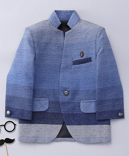 Robo Fry Full Sleeves Shaded Blazer - Blue