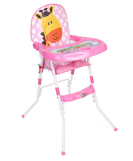 High Chair Giraffe & Polka Dots Design - Pink