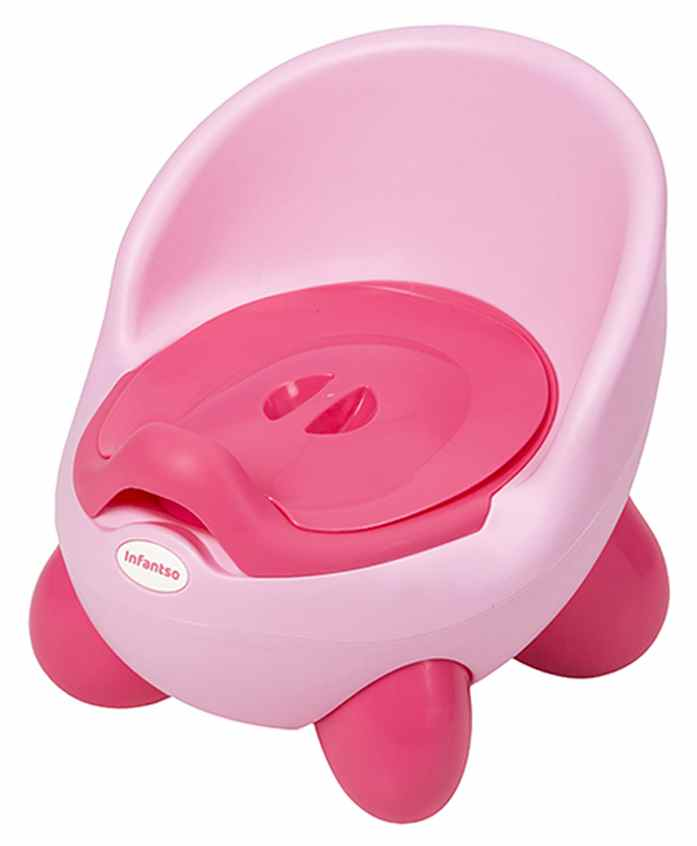 U grow Removable Potty Chair With Lid - Pink Green