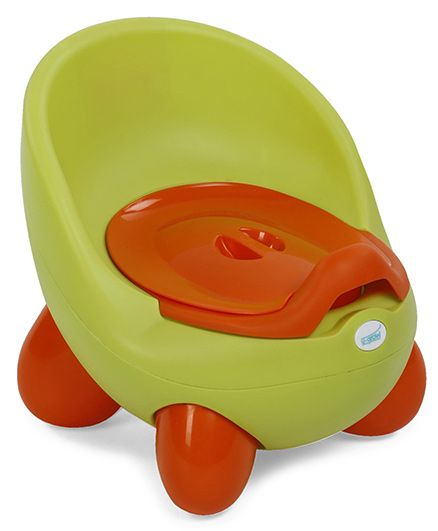 U grow Removable Potty Chair With Lid - Light Green Orange