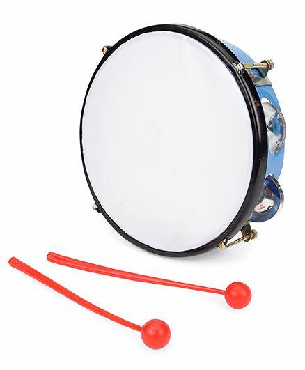 Ratnas Junior Musical Dafli With Two Sticks - Blue Orange