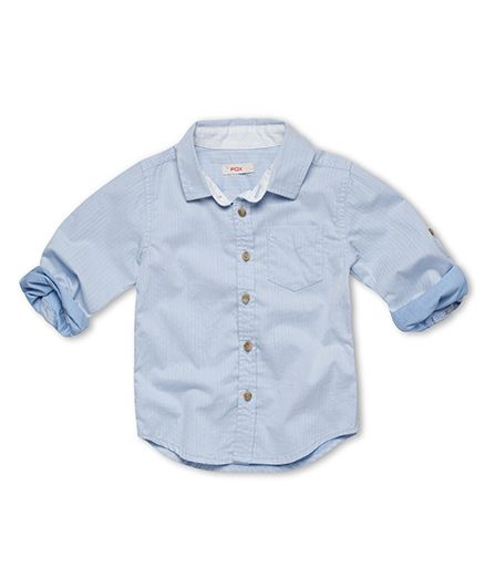 Fox Baby Full Sleeves Shirt - Light Blue