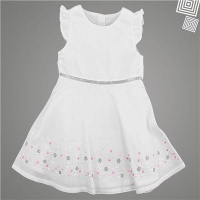 ShopperTree - Short Sleeve White Frock