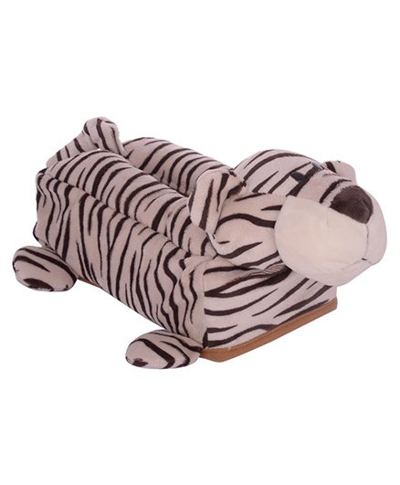 Twisha Nx Tiger Tissue Box - Cream Brown