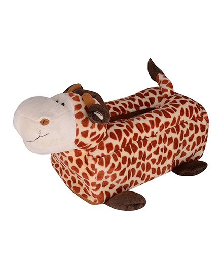 Twisha Nx Giraffe Tissue Box - Brown Off White