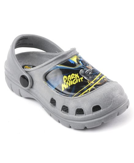 Cutewalk By Babyhug Clogs Dark Knight Design - Grey