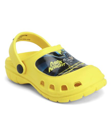 Cutewalk By Babyhug Clogs Dark Knight Design - Yellow