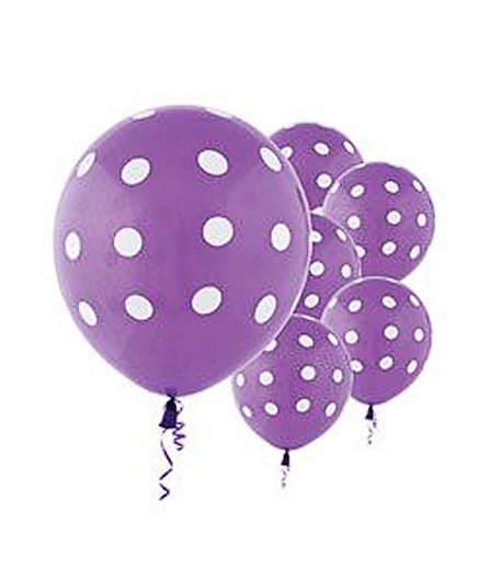 Party Anthem Polka Dot Balloons Pack Of 20 - Purple