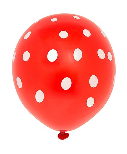 Party Anthem Polka Dot Balloons Pack Of 20 - Red