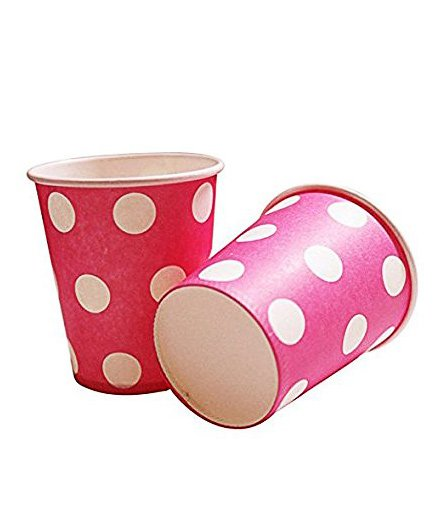 Party Anthem Polka Paper Cups Pack Of 20 - Pink