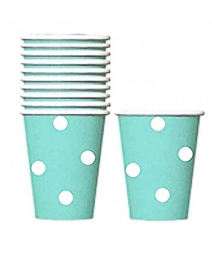 Party Anthem Polka Paper Cups Pack Of 20 - Green