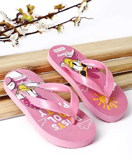 Cute Walk by Babyhug Flip Flop Daisy Duck Print - Pink