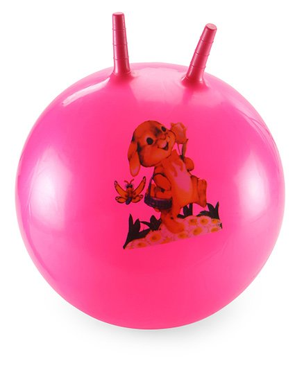 Awals Hopping Ball Large Printed With Pump - Pink