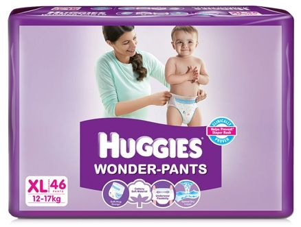 Huggies Wonder Pants Extra Large Size Pant Style Diapers - 46 Pieces
